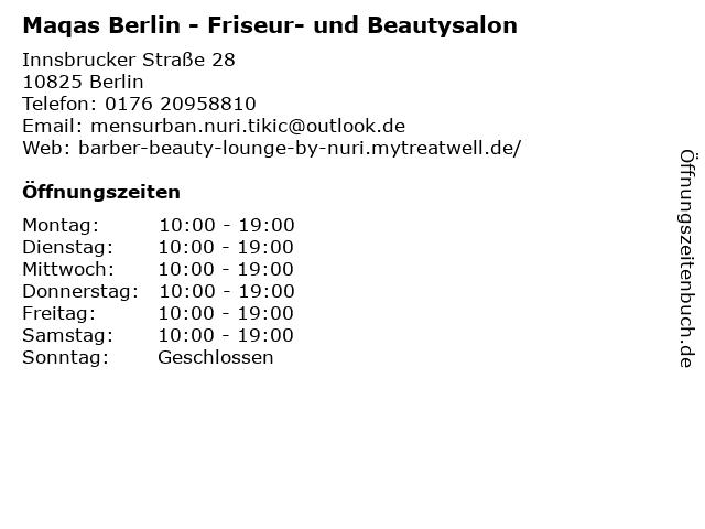 Friseur & Beauty Lounge by Nuri in Berlin: Adresse und Öffnungszeiten