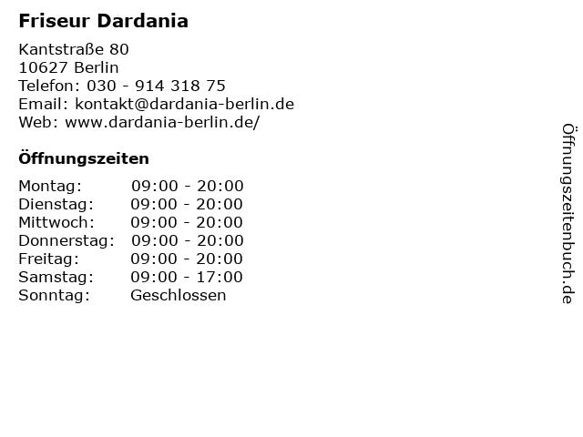 Friseur Dardania in Berlin: Adresse und Öffnungszeiten