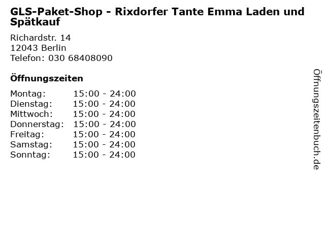 GLS-Paket-Shop - Rixdorfer Tante Emma Laden und Spätkauf in Berlin: Adresse und Öffnungszeiten