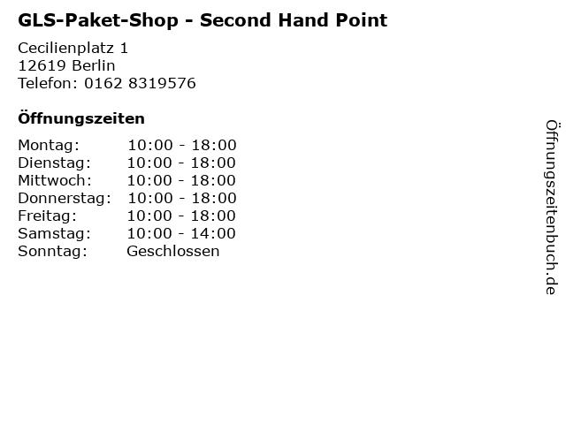 GLS-Paket-Shop - Second Hand Point in Berlin: Adresse und Öffnungszeiten