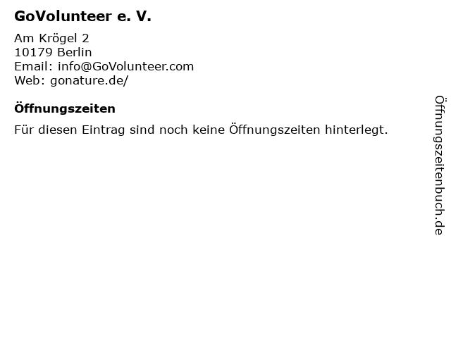 GoVolunteer e. V. in Berlin: Adresse und Öffnungszeiten