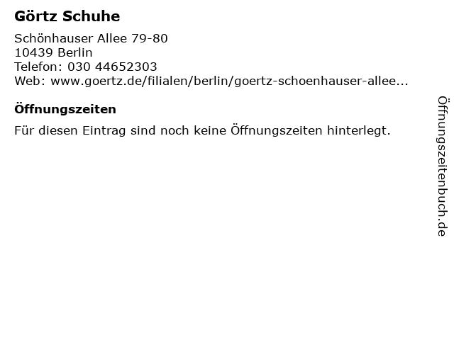 Görtz in Berlin: Adresse und Öffnungszeiten