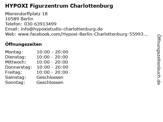 HYPOXI Figurzentrum Charlottenburg in Berlin: Adresse und Öffnungszeiten