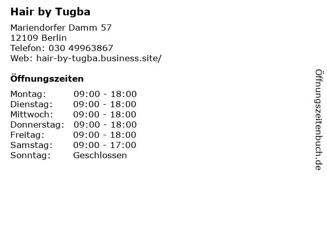 Hair by Tugba in Berlin: Adresse und Öffnungszeiten