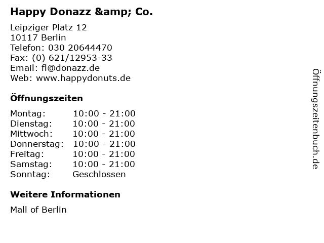 Happy Donazz & Co. in Berlin: Adresse und Öffnungszeiten