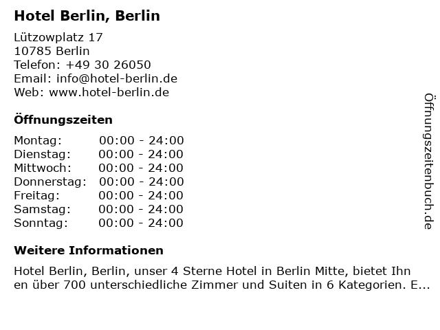 Hotel Berlin, Berlin in Berlin: Adresse und Öffnungszeiten