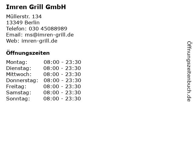 Imren Grill GmbH in Berlin: Adresse und Öffnungszeiten