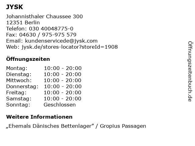 Dänisches Bettenlager GmbH & Co. KG in Berlin: Adresse und Öffnungszeiten
