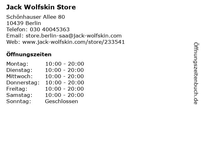 Jack Wolfskin GmbH in Berlin: Adresse und Öffnungszeiten