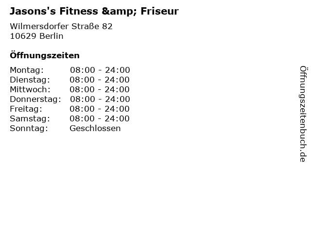 Jasons's Fitness & Friseur in Berlin: Adresse und Öffnungszeiten