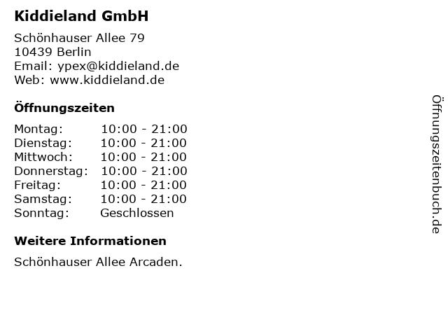 Kiddieland GmbH in Berlin: Adresse und Öffnungszeiten