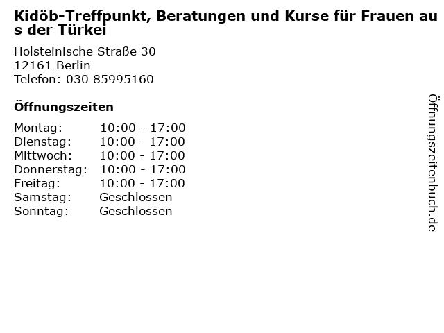 Kidöb-Treffpunkt, Beratungen und Kurse für Frauen aus der Türkei in Berlin: Adresse und Öffnungszeiten