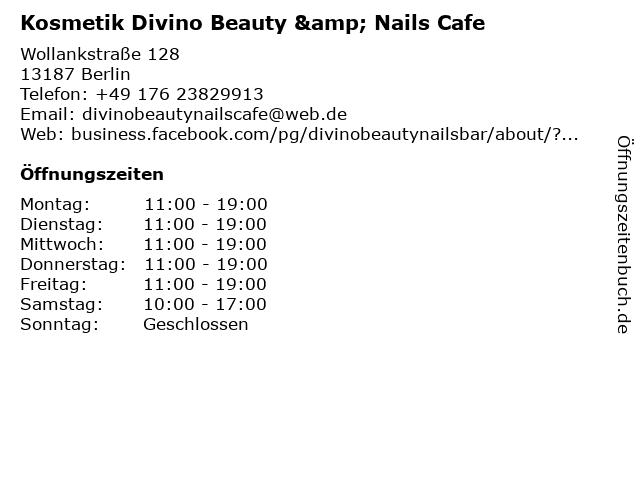 Kosmetik Divino Beauty & Nails Cafe in Berlin: Adresse und Öffnungszeiten