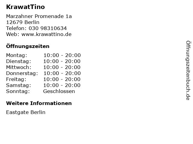 KrawatTino in Berlin: Adresse und Öffnungszeiten