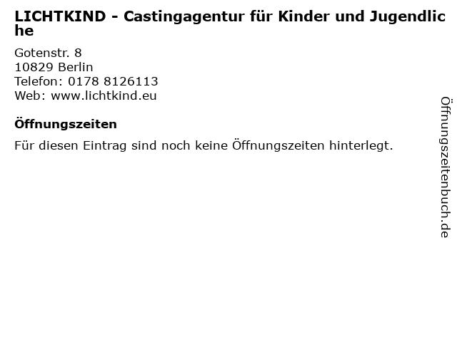 LICHTKIND - Castingagentur für Kinder und Jugendliche in Berlin: Adresse und Öffnungszeiten
