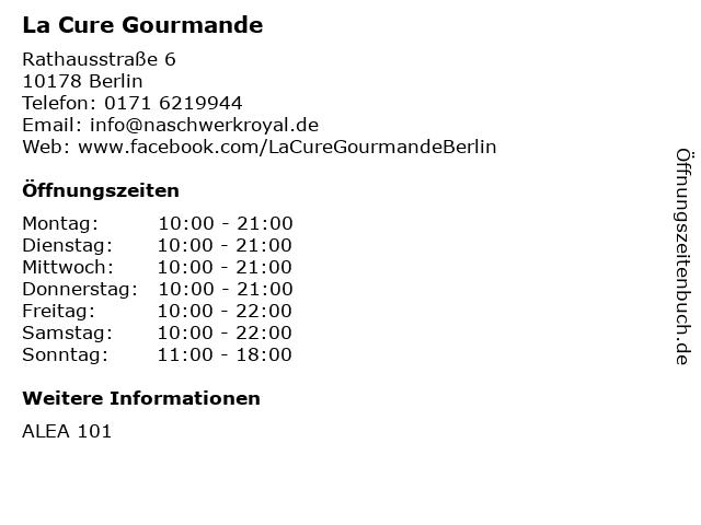 La Cure Gourmande in Berlin: Adresse und Öffnungszeiten