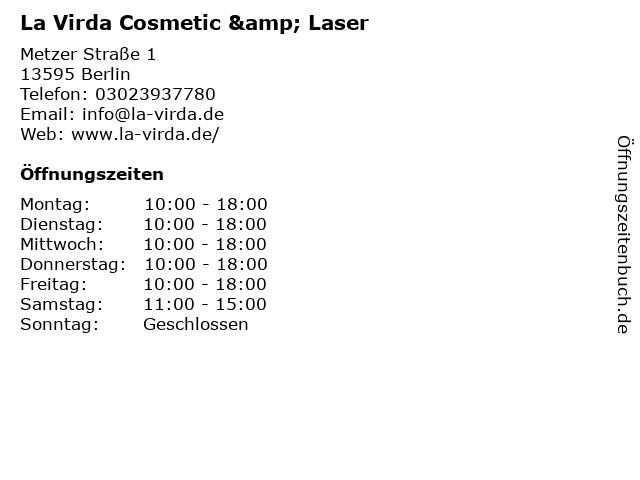 La Virda Cosmetic & Laser in Berlin: Adresse und Öffnungszeiten
