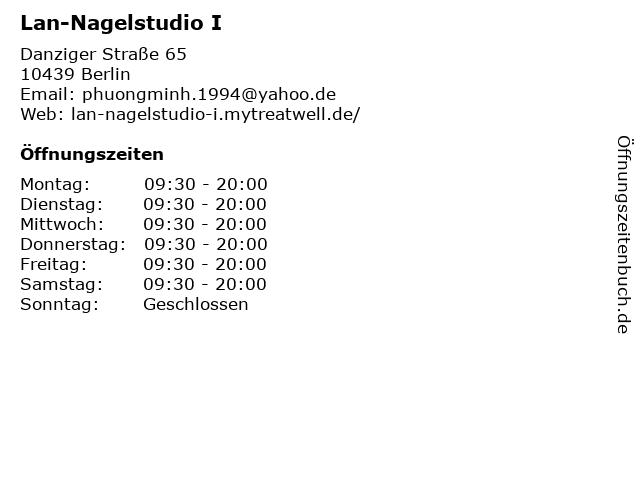 Lan-Nagelstudio I in Berlin: Adresse und Öffnungszeiten