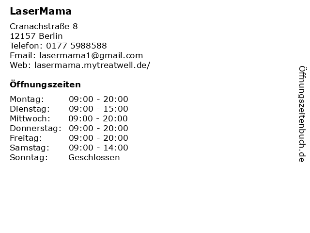 LaserMama in Berlin: Adresse und Öffnungszeiten