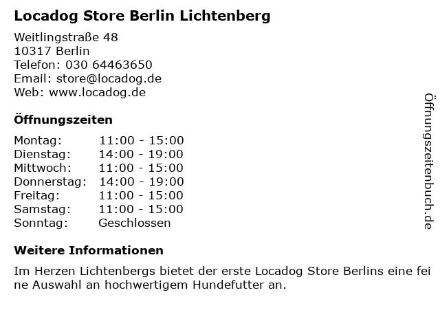 Locadog Store Berlin Lichtenberg in Berlin: Adresse und Öffnungszeiten