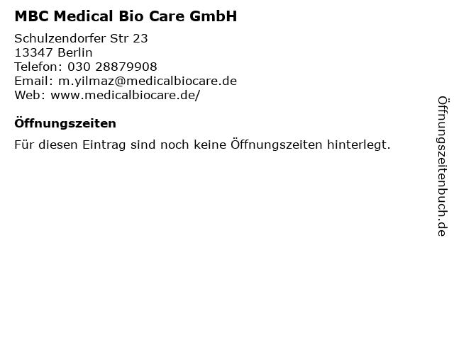 MBC Medical Bio Care Deutschland GmbH Vertrieb IPL & Laser Medizintechnik in Berlin: Adresse und Öffnungszeiten