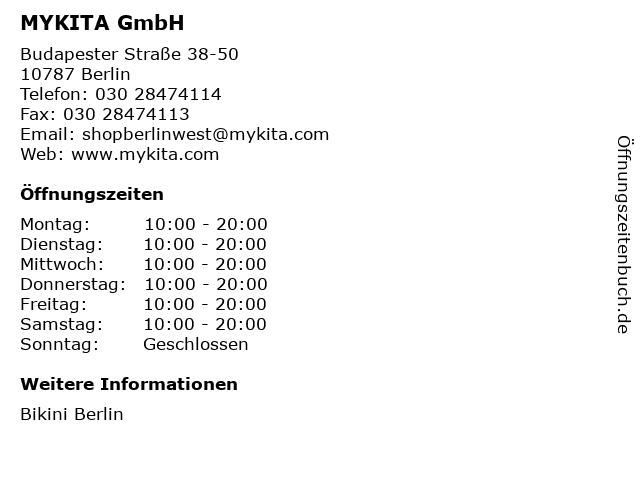 MYKITA GmbH in Berlin: Adresse und Öffnungszeiten