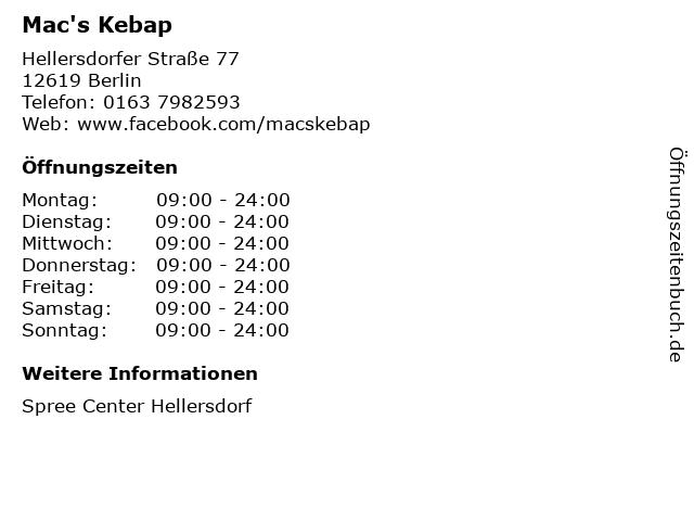 Mac's Kebap in Berlin: Adresse und Öffnungszeiten