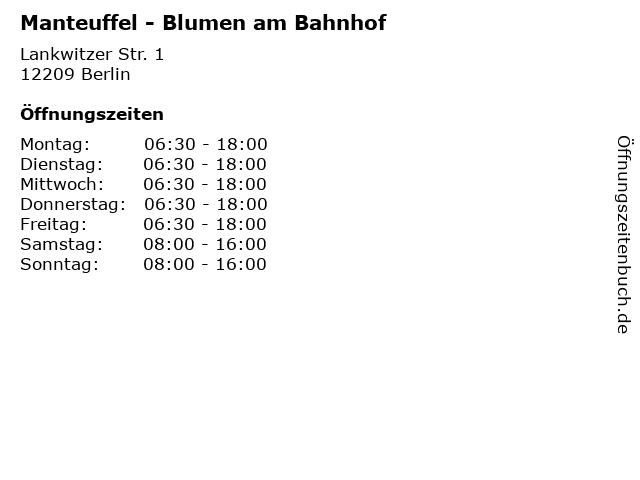 Manteuffel - Blumen am Bahnhof in Berlin: Adresse und Öffnungszeiten