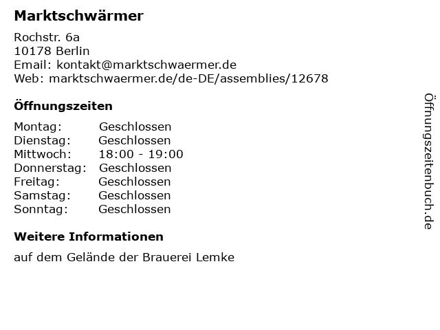 Marktschwärmer in Berlin: Adresse und Öffnungszeiten