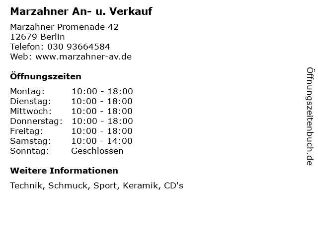 Marzahner An- u. Verkauf in Berlin: Adresse und Öffnungszeiten