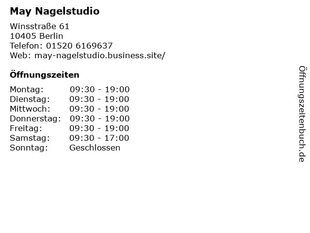May Nagelstudio in Berlin: Adresse und Öffnungszeiten