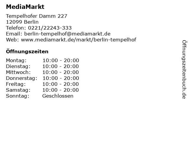 MediaMarkt in Berlin: Adresse und Öffnungszeiten