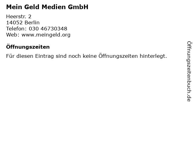 Mein Geld Medien GmbH in Berlin: Adresse und Öffnungszeiten