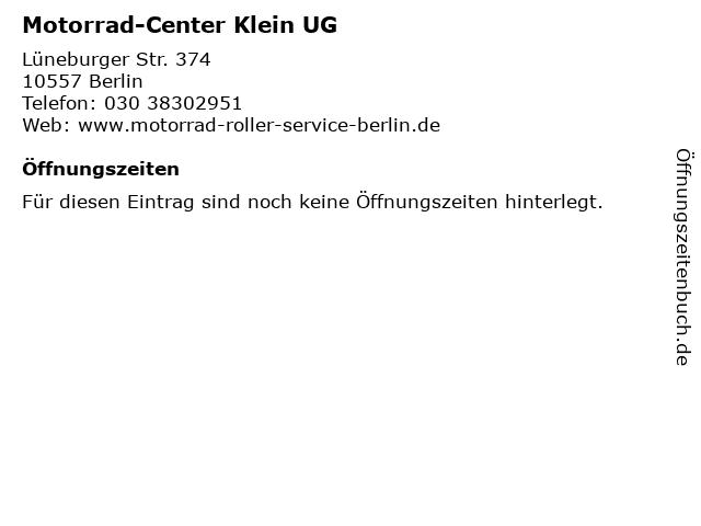 Motorrad-Center Klein UG in Berlin: Adresse und Öffnungszeiten