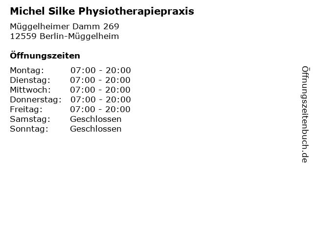 Michel Silke Physiotherapiepraxis in Berlin-Müggelheim: Adresse und Öffnungszeiten