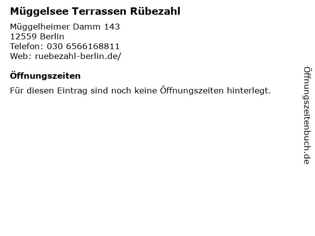Müggelsee Terrassen Rübezahl in Berlin: Adresse und Öffnungszeiten