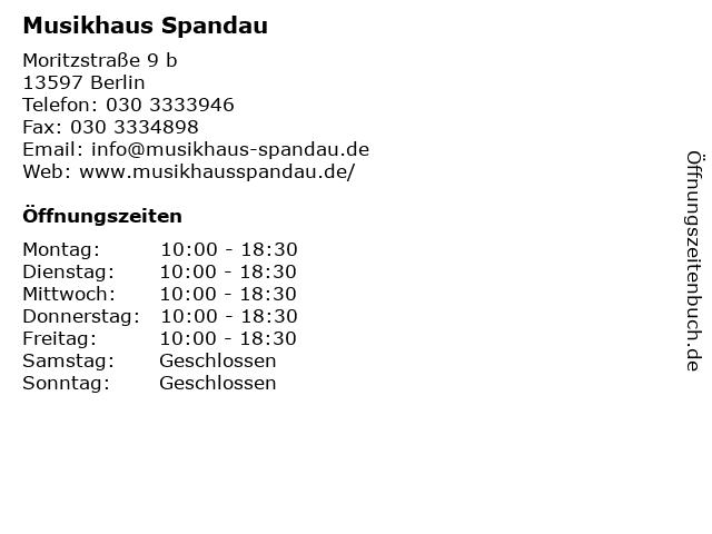 Musikhaus Spandau in Berlin: Adresse und Öffnungszeiten