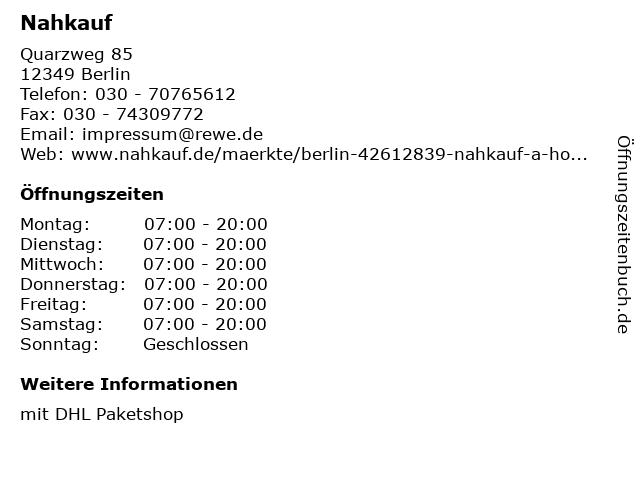 Nahkauf in Berlin: Adresse und Öffnungszeiten