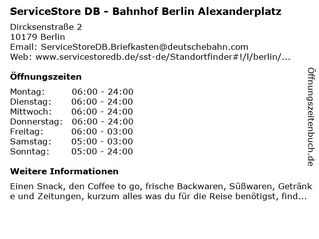 Neptun Apotheke im S-Bahnhof Alexanderplatz in Berlin: Adresse und Öffnungszeiten