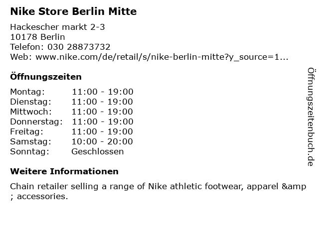 Nike in Berlin: Adresse und Öffnungszeiten