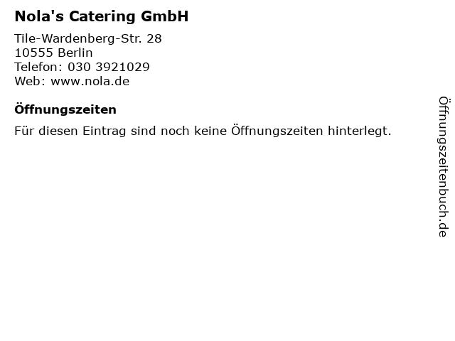 Nola's Catering GmbH in Berlin: Adresse und Öffnungszeiten