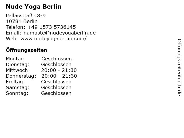 Nude Yoga Berlin in Berlin: Adresse und Öffnungszeiten