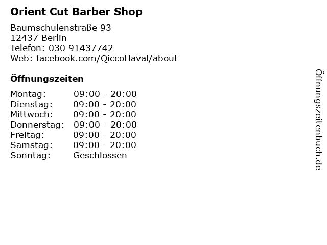 Orient Cut Barber Shop in Berlin: Adresse und Öffnungszeiten