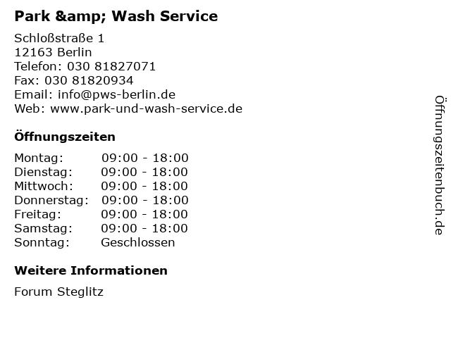 Park & Wash Service in Berlin: Adresse und Öffnungszeiten