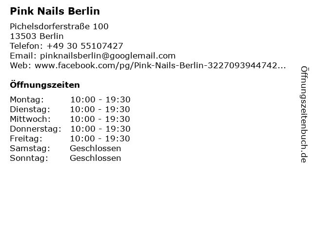 Pink Nails Berlin in Berlin: Adresse und Öffnungszeiten