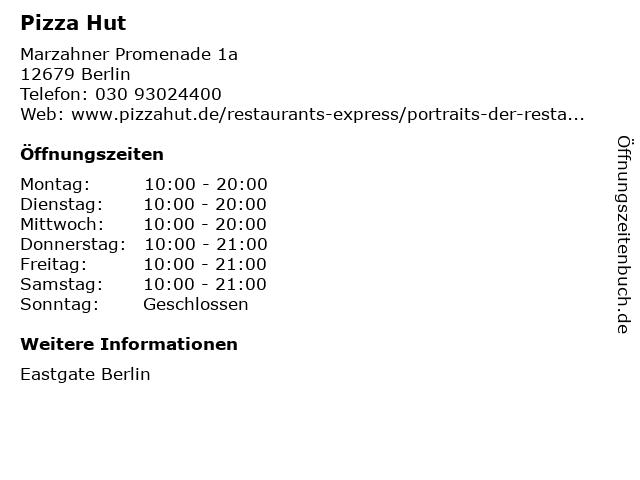 Pizza Hut in Berlin: Adresse und Öffnungszeiten