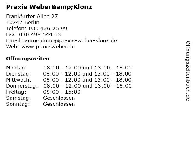 Weber Klonz