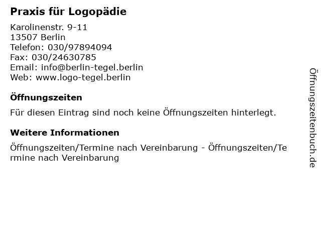 Praxis für Logopädie in Berlin: Adresse und Öffnungszeiten