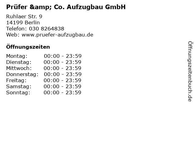 Prüfer & Co. Aufzugbau GmbH in Berlin: Adresse und Öffnungszeiten