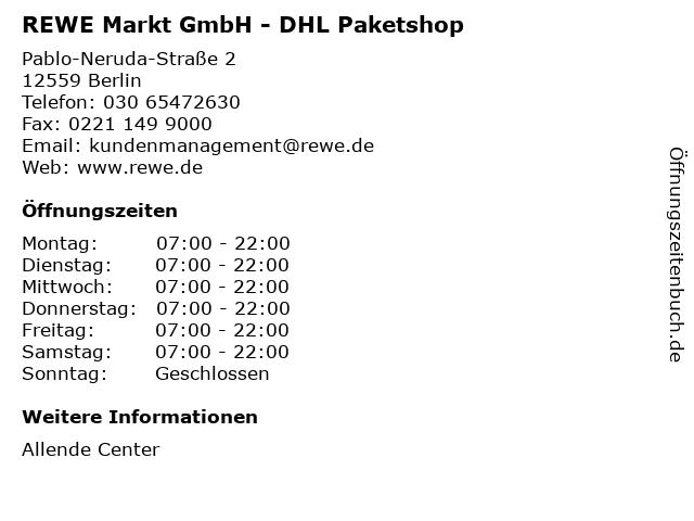 REWE Markt GmbH - DHL Paketshop in Berlin: Adresse und Öffnungszeiten